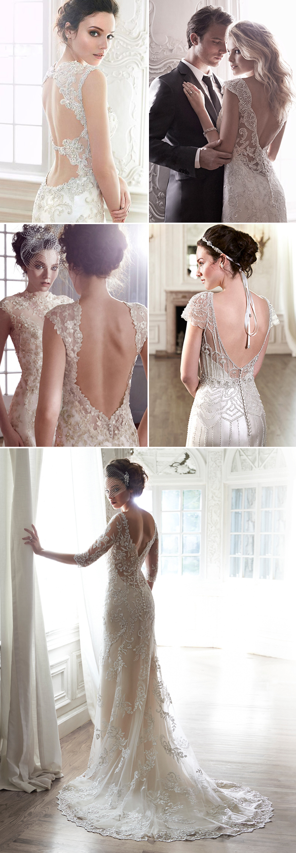Maggie Sottero Backless Collage