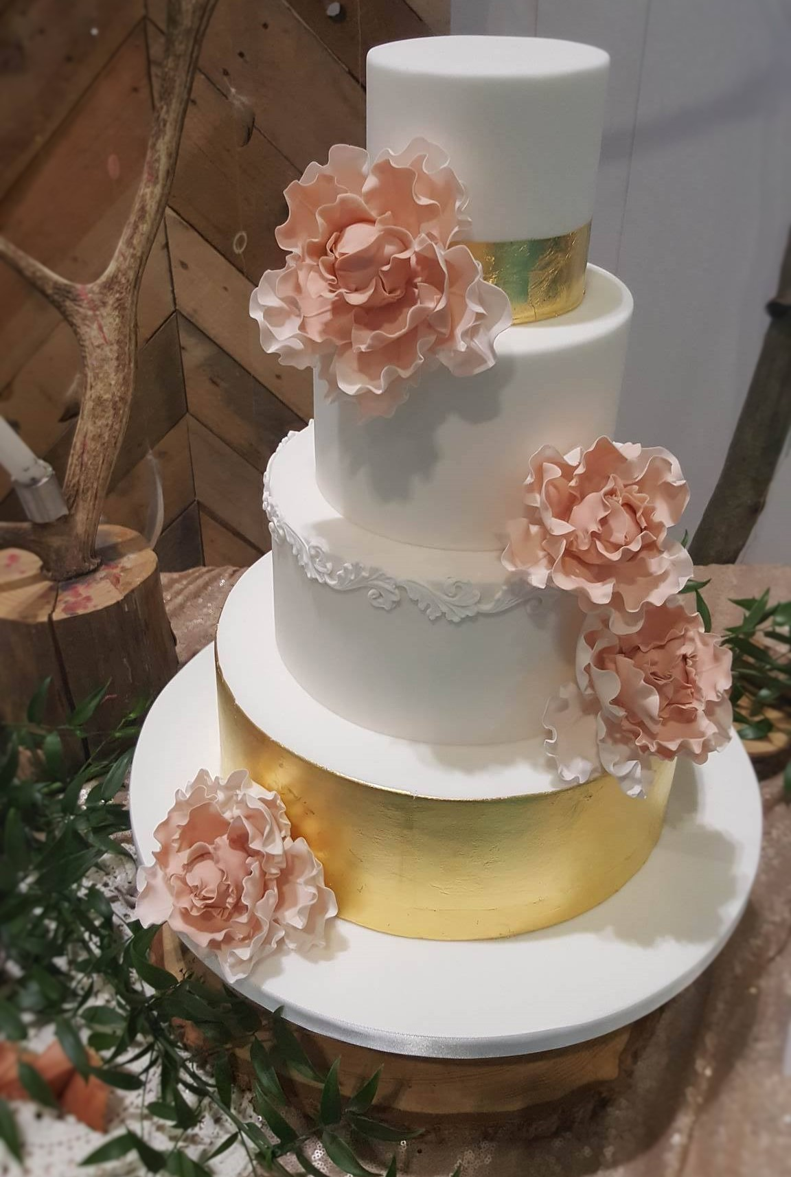 Wedding Cake Inspiration - Pink and Gold